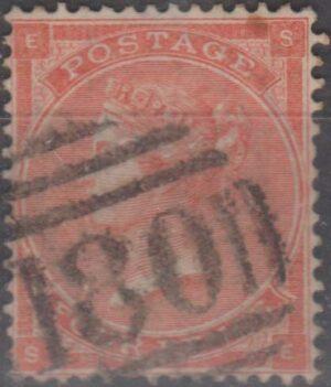 180 Chester lozenge on 4d red pl 3 c1863
