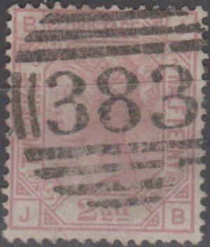 383 Hull lozenge on 2½ rosy mauve pl 2 c1875