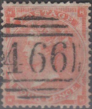 466 Liverpool lozenge on 4d pale red pl 3 c1862