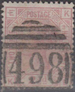 498 Manchester lozenge on 2½d rosy mauve pl 3 c1875