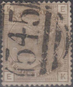 545 Newcastle lozenge on 4d grey-brown pl 17 c1880