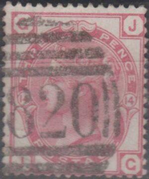 820 Tunbridge Wells lozenge on 3d pl 14 c1874