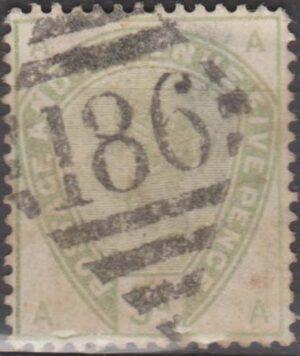 Ireland 186 Dublin on 5d grey-green c1884