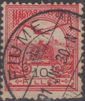 Hungary 10 filler Turul cancelled Fiume bridged cds 1930