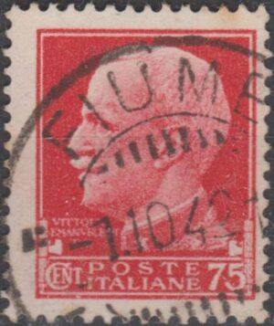 Italy 75c King Victor E cancelled bridged d/r cds 1942