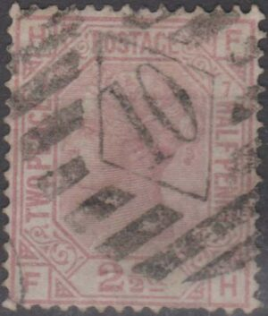London lozenge 10 on 2½d mauve pl 7 c1877