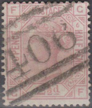 Scottish 406 (Johnstone) on 2½d mauve pl 6 c1876