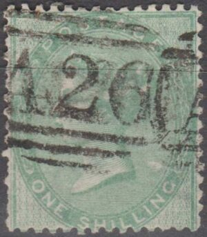 A26 (Gibraltar) on 1/- green